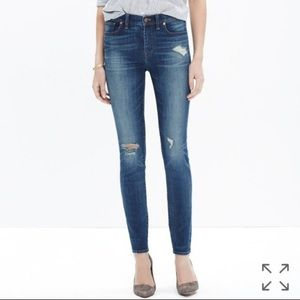 Madewell High Riser Distressed Jeans